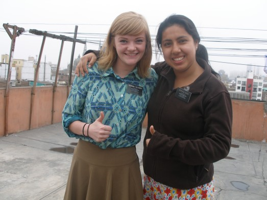 Hermana Suqui and Hermana Hollberg