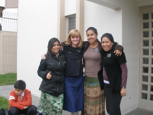 Hermana Seclen, Hermana Custodio, Hermana Suqui, and I